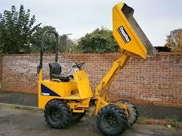 1 ton dumper hire high tip skip loader nottinghamshire