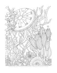 phee mcfaddell coloring pages coloring pages aquatic bouquets set of 8 by emerlyearts