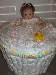 Diaper Cake Bathtub Artsy Fartsy Baby Shower Diaper Gift