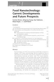 food nanotechnology current developments and future prospects