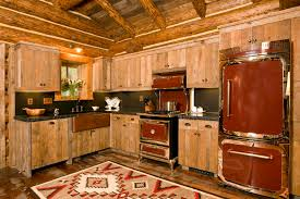 Rustic Cabin Kitchen Ideas by Kitchen Luxury Rustic Kitchen Design With Brown Wooden L Shaped