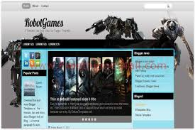 silver blue gaming blogger template download
