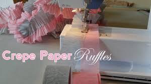 ruffled streamers baby shower decor idea crepe paper ruffles
