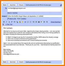 resume letter via email sending cover letter via email email