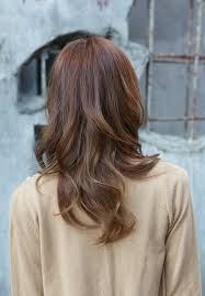 front and back views of medium length hair shoulder length layered bob haircuts with bangs for women front