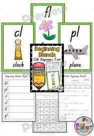 beginning blends bl cl fl gl pl sl qld beginners font worksheets