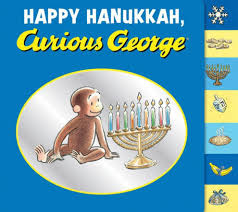 hanukkah clearance happy hanukkah curious george by h a margret nook