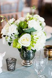 White Roses Centerpieces by Secret Garden Themed Centerpieces