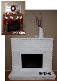 Yellow Fireplace by Painted Brick Fireplace Yellow Bliss Road