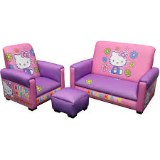Lounge Chair And Ottoman Set Design Ideas Hello Kitty Bows Toddler Piece Sofa Chair And Ottoman Set Toddler