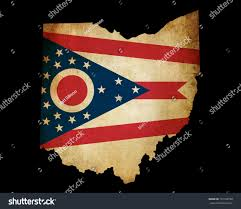 Ohios State Flag Usa American Ohio State Map Outline Stock Illustration 101188798