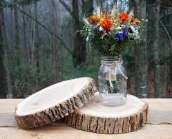 wood centerpieces 2 wood wedding centerpieces wood slices tree cake