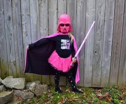 a diy darth vader halloween costume in pink northstory