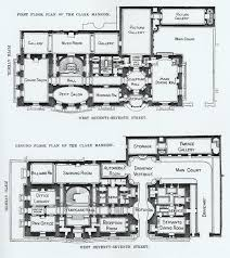 St James Palace Floor Plan The Gilded Age Era The William A Clark Mansion New York City
