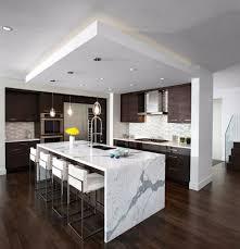 modern kitchen countertops waterfall kitchen countertops 2017 kitchen decor trend