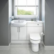 Fitted Bathroom Furniture White Gloss Bathroom Furniture Cabinets Free Standing Furniture Diy At B Q