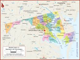 maryland map maryland wall map political