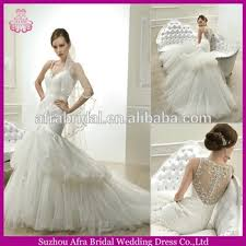 qq1696 sheer bling back tulle mermaid bridal dress designer