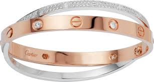 cartier bracelet love bracelet images Crn6039217 love bracelet diamond paved pink gold white gold png