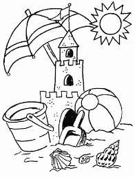 beach coloring pages beach objects coloringstar