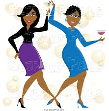 birthday martini clipart pal clipart of happy black women dancing with cocktails by pams