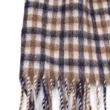 aquascutum club check lambswool scarf oxygen clothing