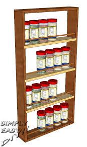 cabinet door spice rack simply easy diy diy cabinet door spice rack