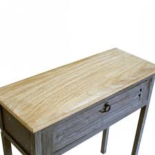 bureau console bois bureau console bois simple console bureau bois clair et blanc style