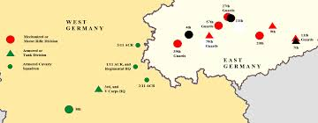 East Germany Map by Military History Online The Fulda Gap