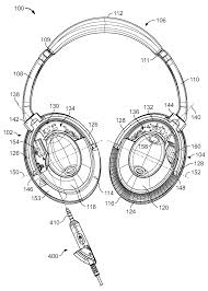 patent us8031878 electronic interfacing with a head mounted