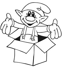 coloring pages easy elf coloring