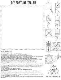 how to make a diy paper fortune teller dear handmade