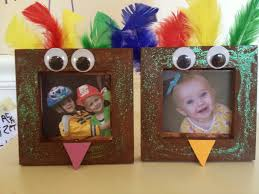 turkey frame craft and teaching kids about