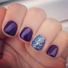 peacock inspired nails nailart purple glitter peacock nail