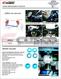 subaru gvb vehicle specific product catalog subaru impreza grb gvb parts