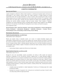logistics coordinator resume objective resume for your job
