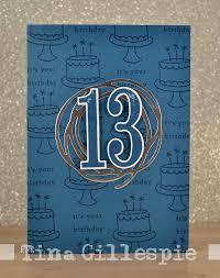 scissors paper card happy 13th birthday tyson