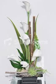 Display Vase Shop Summer Fresh Calla Lilies Succulents Green Lupin Vase Display