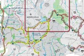 raleigh greenway map morrisville breaks ground on crosstown crabtree hatcher creek