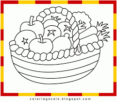 coloring pages of fruit basket coloring home