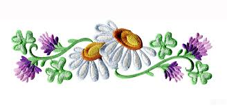 daisy floral border 2 embroidery design