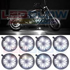 white led motorcycle light kit amazon com ledglow 8pc white led motorcycle atv lighting kit