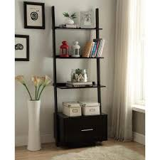 Altra Ladder Bookcase by Convenience Concepts American Heritage Black Ladder Bookcase With