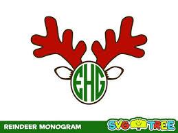 monogram christmas reindeer monogram clipart clipartxtras
