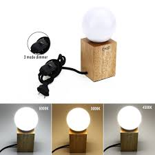 led lampe dimmbar e27 led 10w lampe dimmbar tischlampe holz lecuhte 3 farben
