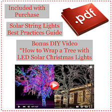 Outdoor Christmas Lights Amazon by Devida Solar String Lights 120 Warm White Led Easy To Install