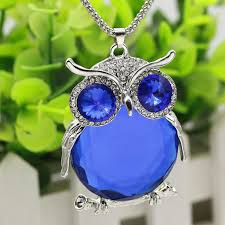 crystal owl necklace images Owl crystal necklace amusing pet jpg