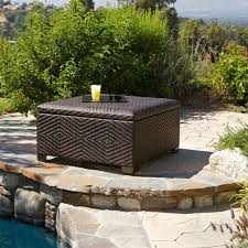 outdoor wicker storage ottoman for amazing of fantastic outdoor