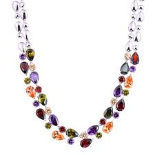 multi color stone necklace images Buy sterling silver jewelry luxury mona lisa jpg