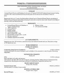 exles of funeral programs funeral director resume top 8 funeral director resume sles 1